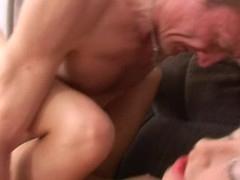 Sweet darling opens her twat for teacher's hard drilling